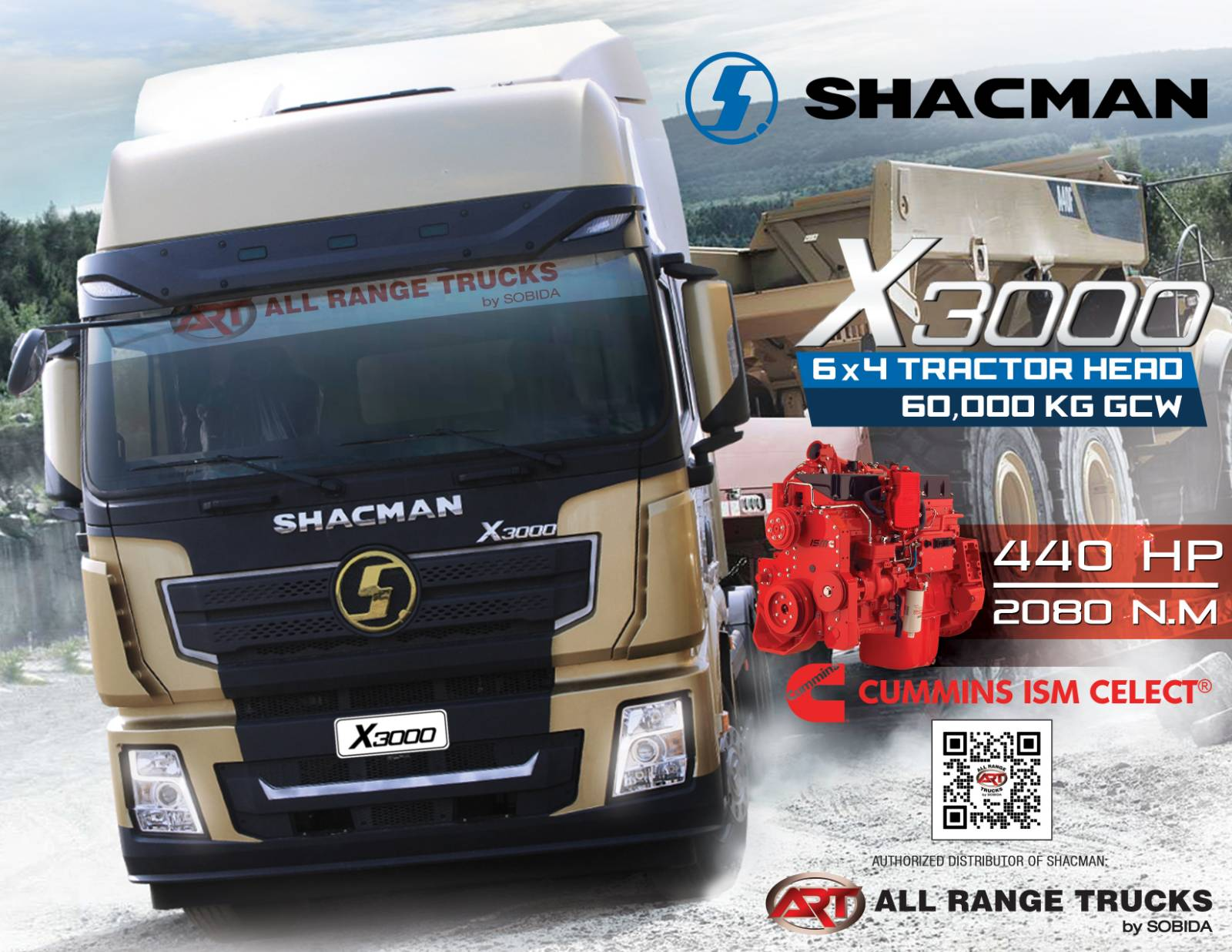 Shacman X3000 Tractor Head 6x4 Prime Mover SX42564W324C 10 wheeler photo