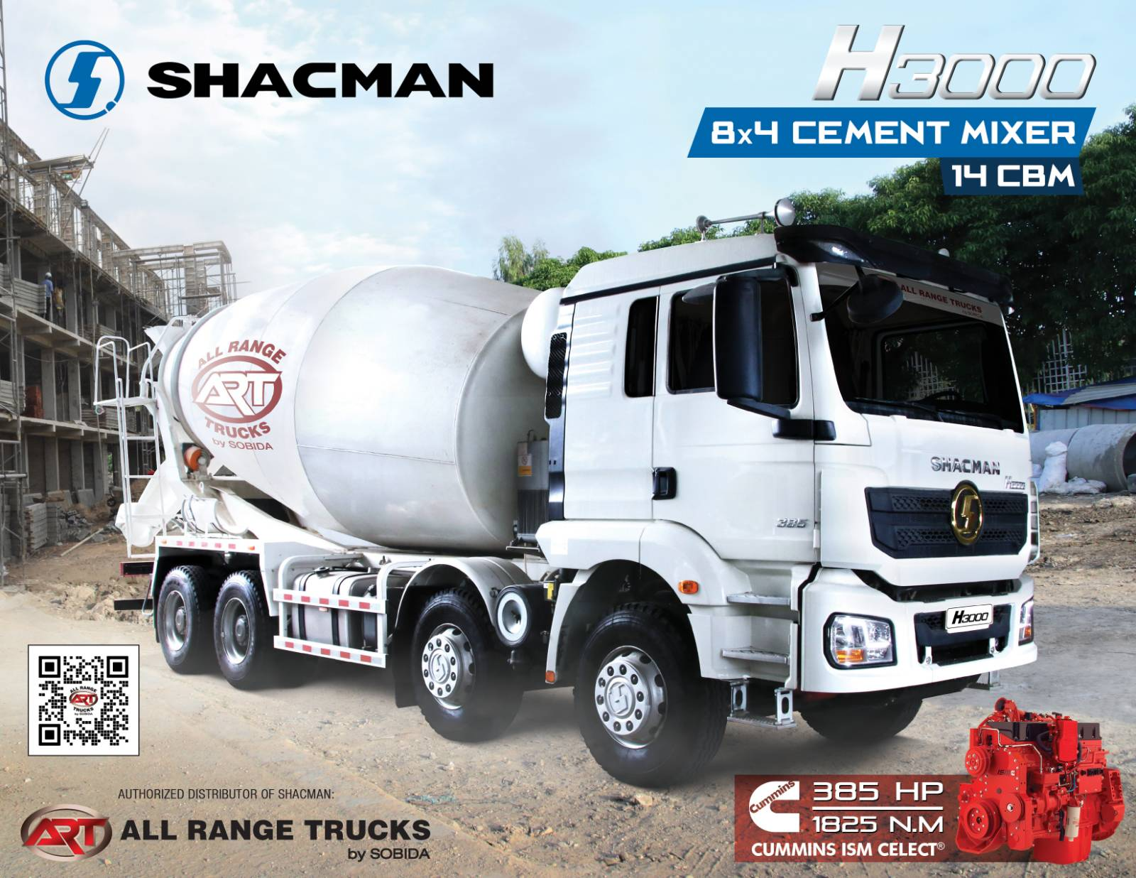 Shacman H3000 8x4 Cement Mixer Truck 12 wheeler SX5316GJBHT326C photo