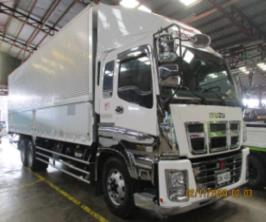 Sobida Isuzu 32 footer aluminum wing van truck 10 wheeler photo