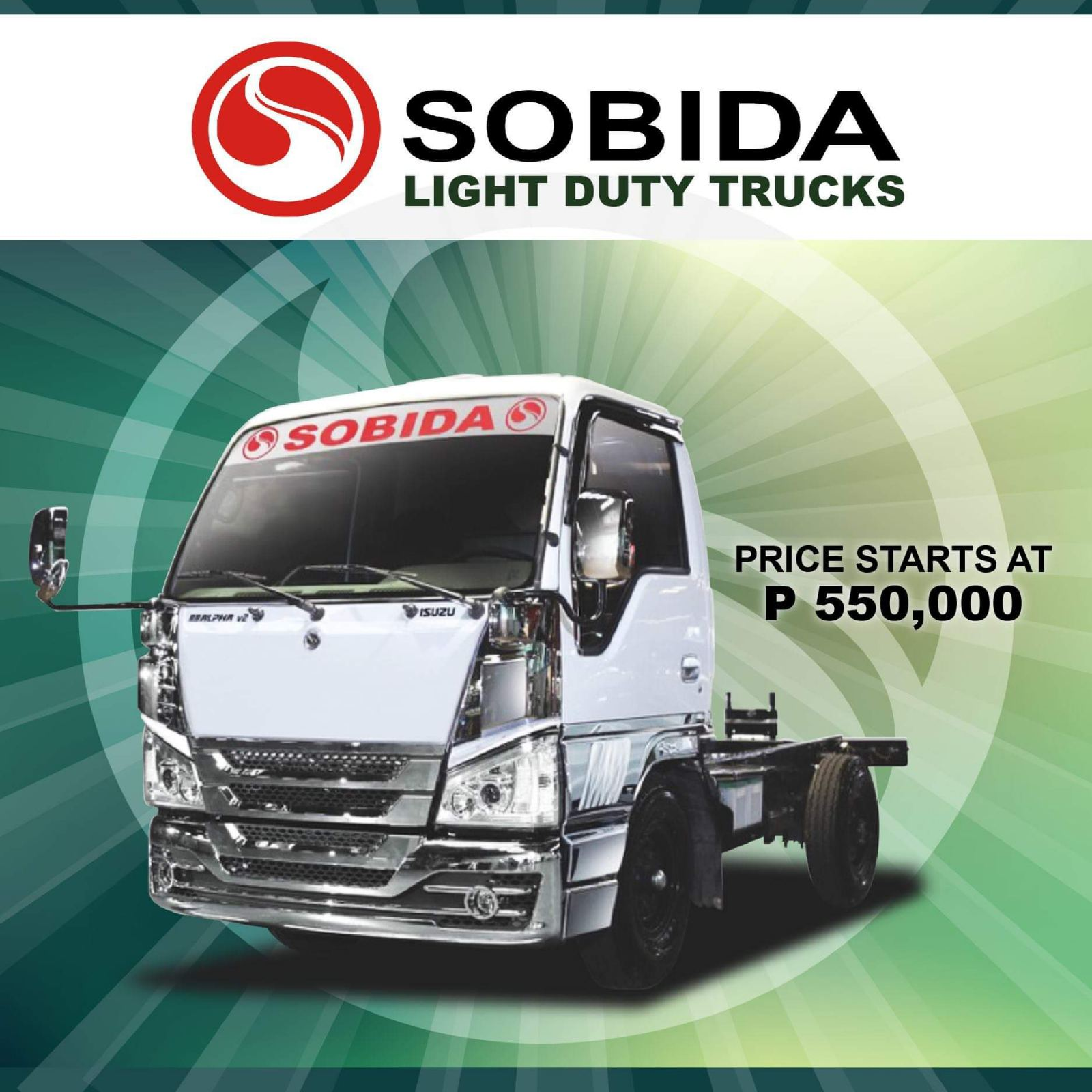 Sobida Isuzu Light Duty Trucks Elf Canter Hino cab and chassis truck photo