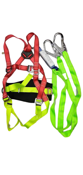 Full Body Harness Bighook Double Lanyard With Shock Absorber And Back Support photo