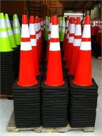 Traffic Cone Rubberized Black base 36inch photo