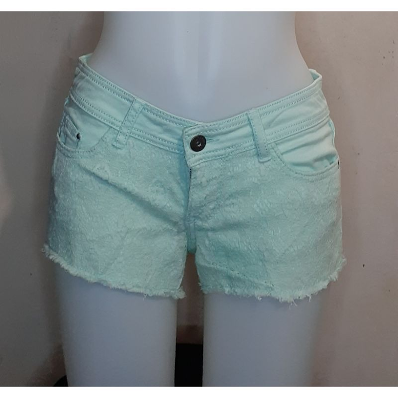 mint green korean shorts photo
