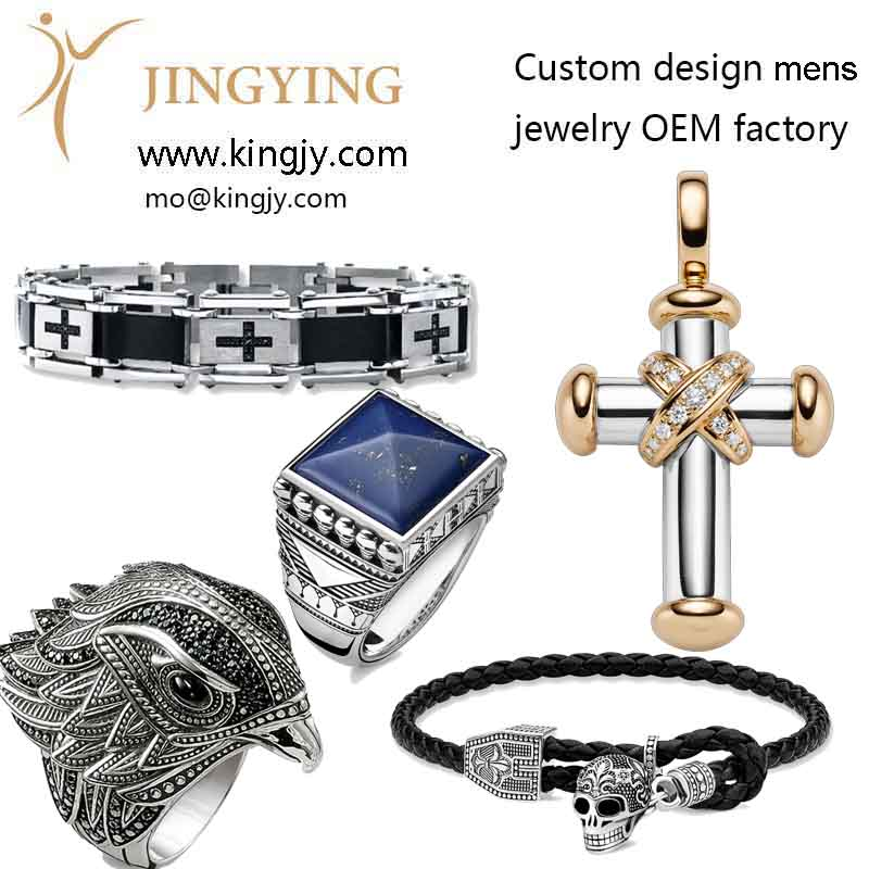 custom mens 925 sterling silver jewelry OEM factory photo