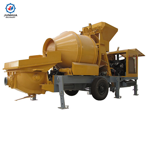 concrete pump with mixer photo